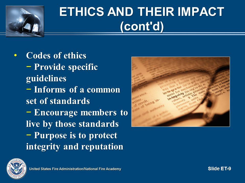 What expectations does the public have? RETURNING TO ACTIVITY ET.1 (cont d) Slide ET-30