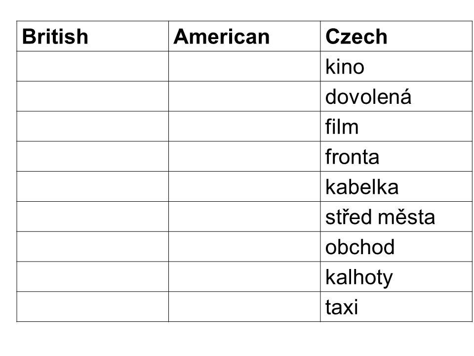 British English and North American English vocabulary http://www.youtube.com/watch?v=AmgU2RUESbA