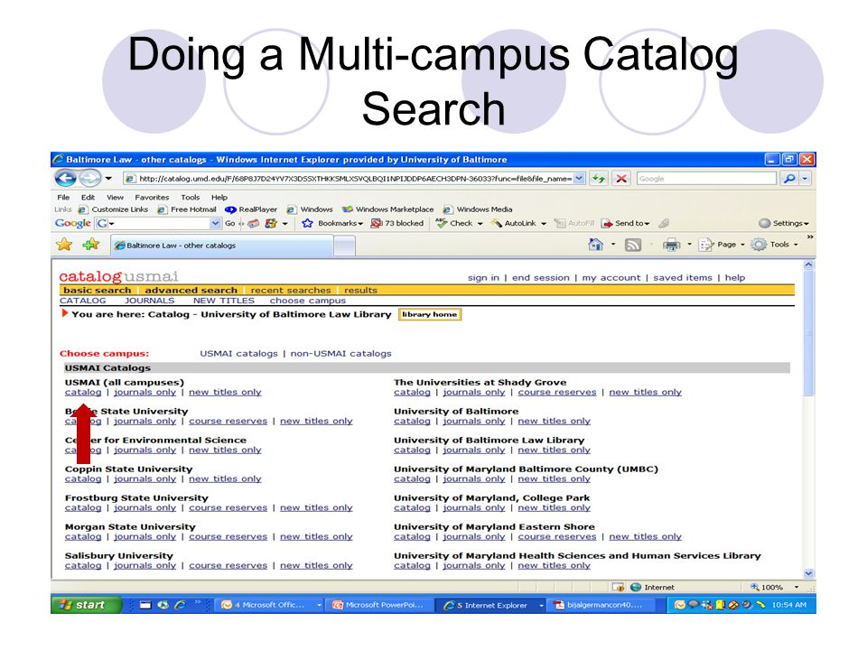 Doing a Multi-campus Catalog Search