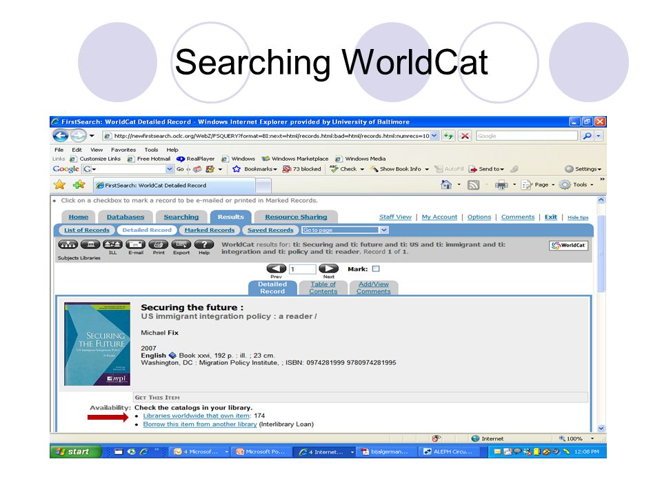 Searching WorldCat
