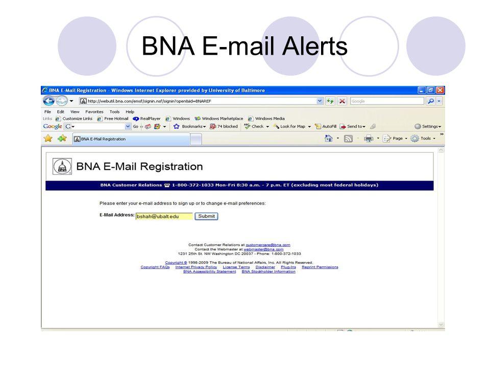 BNA E-mail Alerts