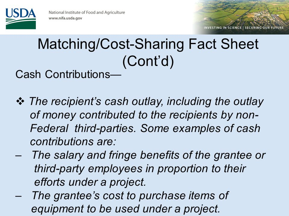 Matching/Cost Sharing Funds FAQ's (Cont'd) 14.