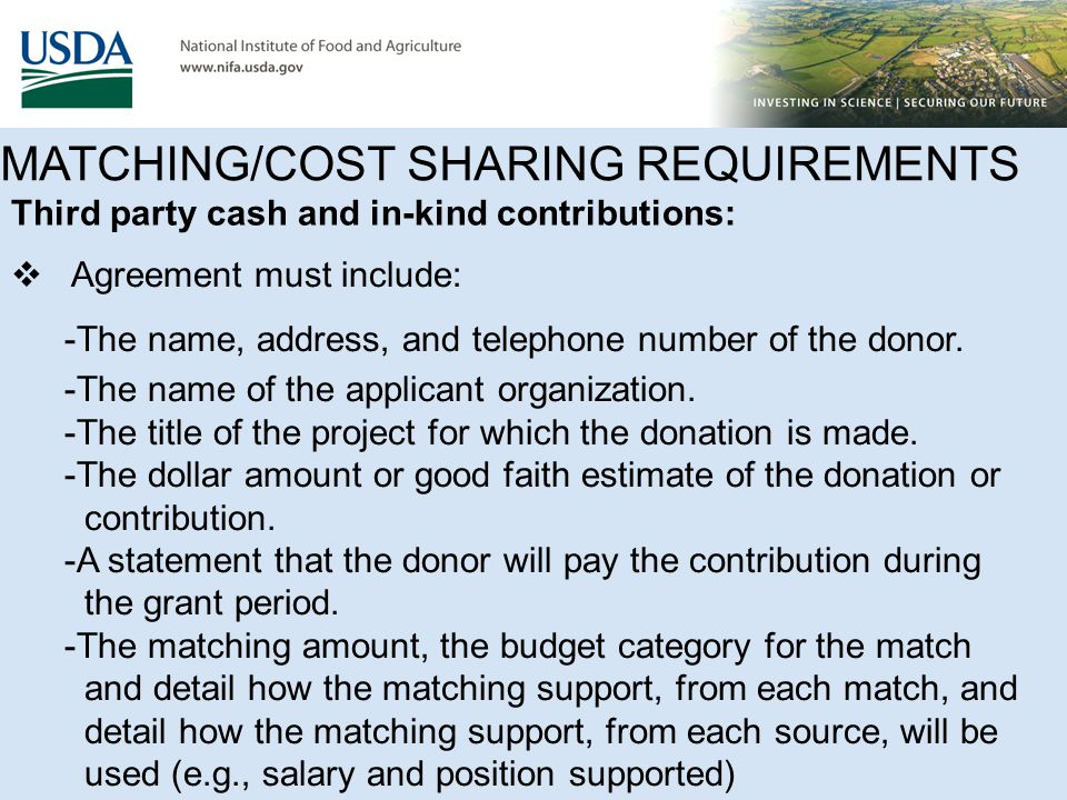 Matching/Cost Sharing Funds FAQ's (Cont'd ) 17.Can the indirect costs be used as matching funds.