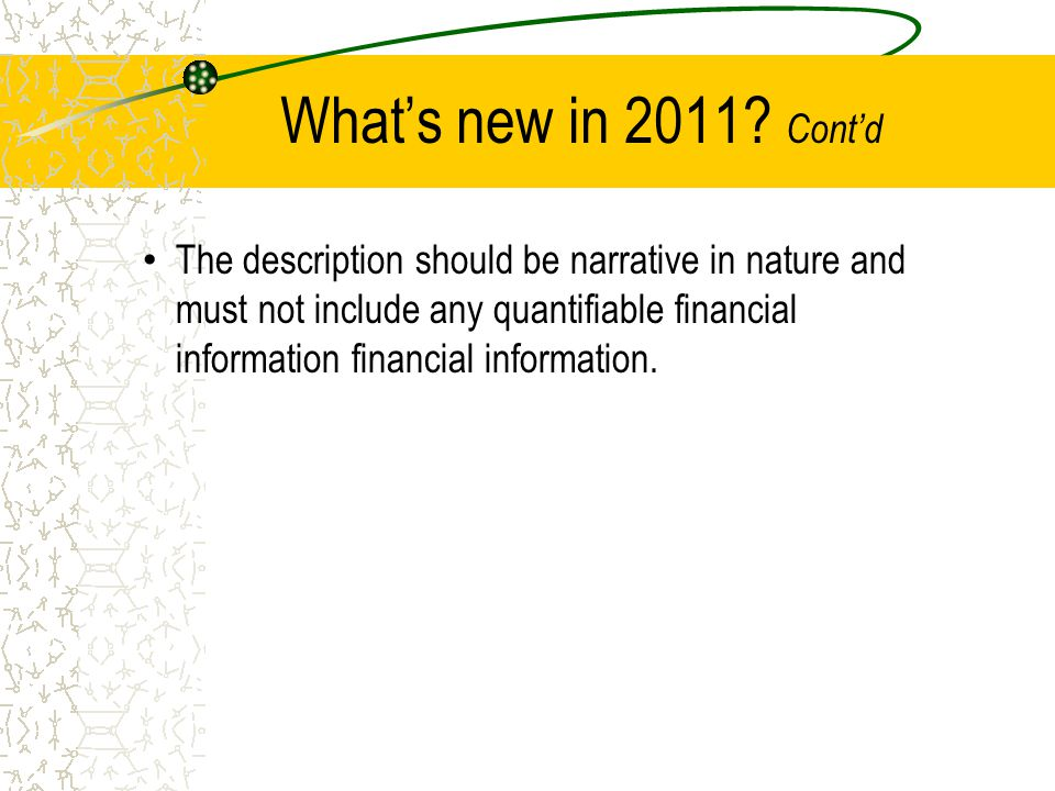 What's new in 2011.