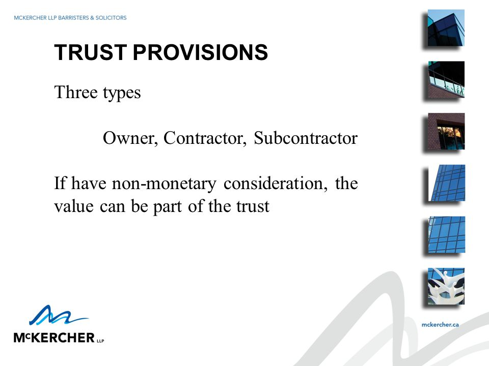 OBLIGATIONS OF PRIME CONTRACTOR (CONT'D) Ensure all parties on site have adequate and appropriate policies etc.