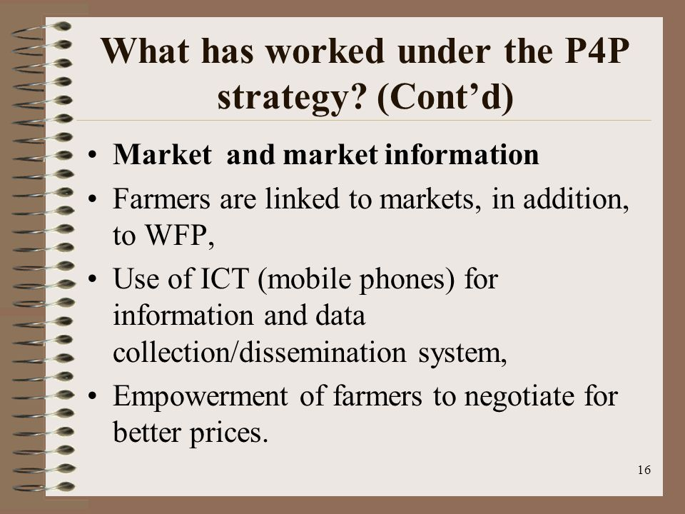 What has worked under the P4P strategy.