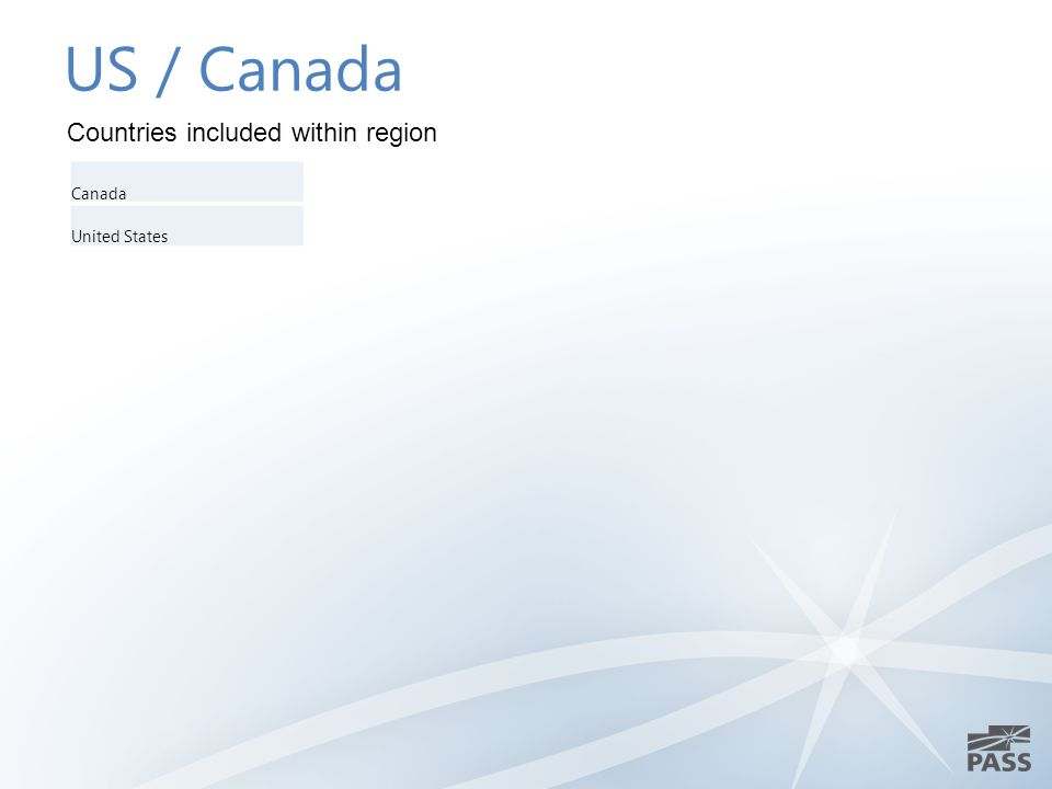 US / Canada Canada United States Countries included within region