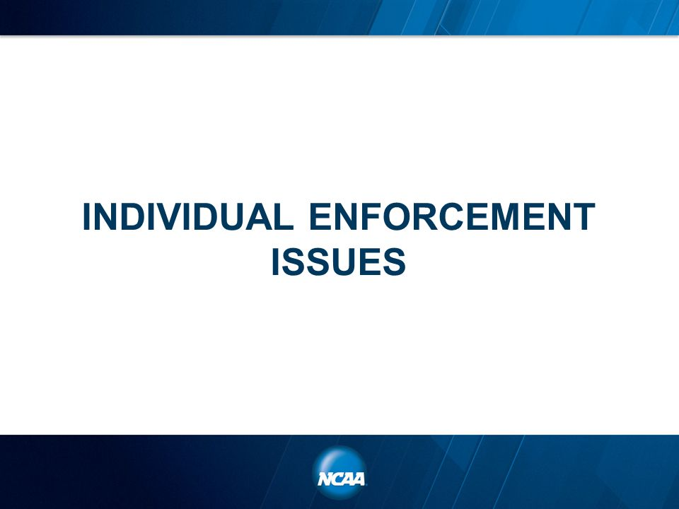 INDIVIDUAL ENFORCEMENT ISSUES