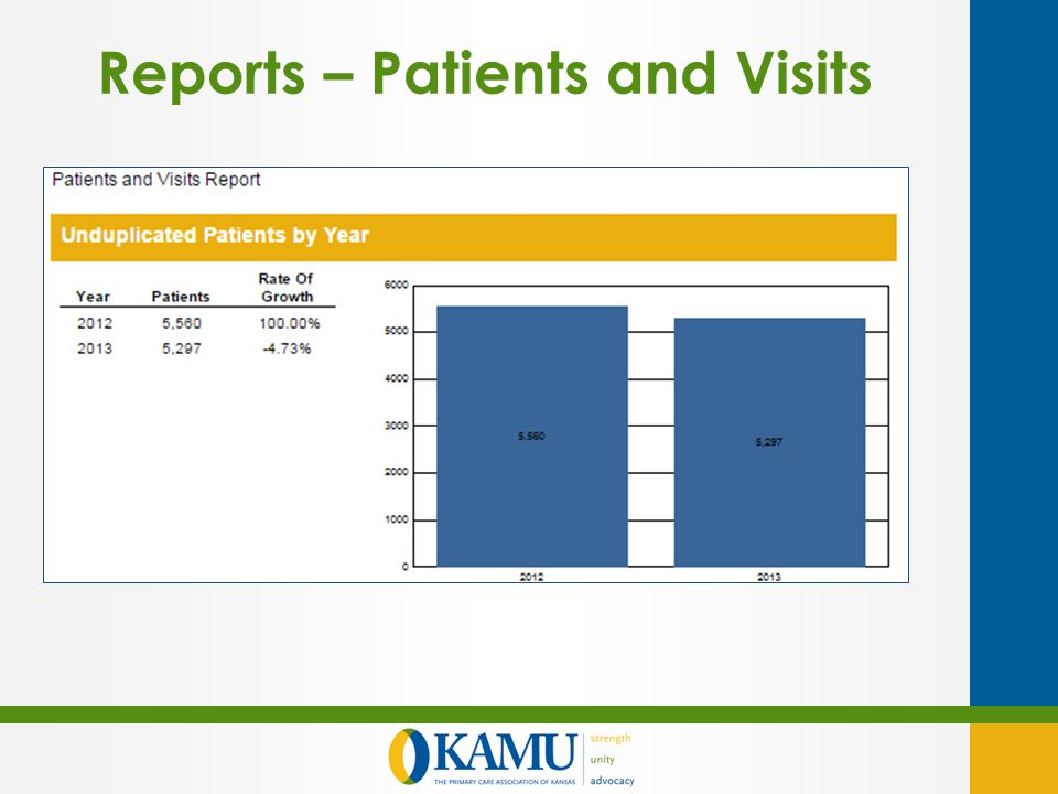 Reports – Patients and Visits