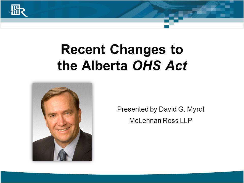 Recent Changes Bill No.