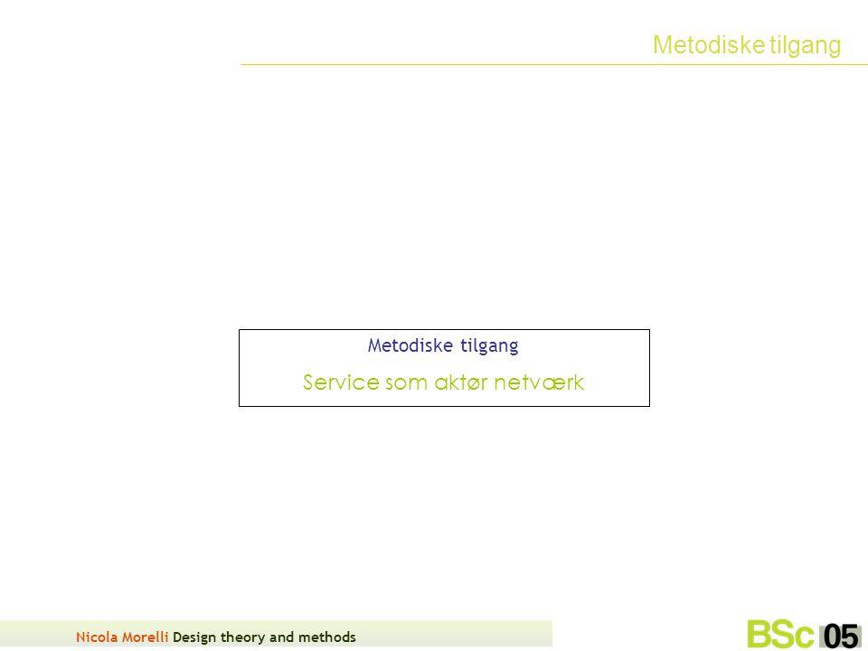 Nicola Morelli Design theory and methods Metodiske tilgang Service som aktør netværk