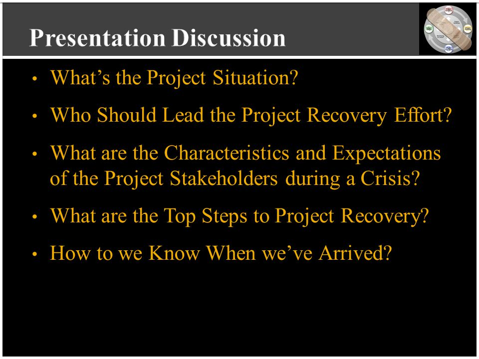 vvvvvvvvvv vvvvvvvvvv vvvvvvvvvv vvvvvvvvvv v What's the Project Situation? Who Should Lead the Project Recovery Effort? What are the Characteristics