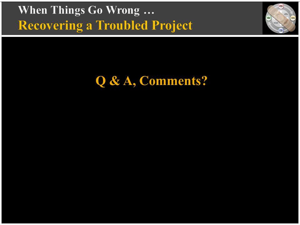 vvvvvvvvvv vvvvvvvvvv vvvvvvvvvv vvvvvvvvvv v Q & A, Comments