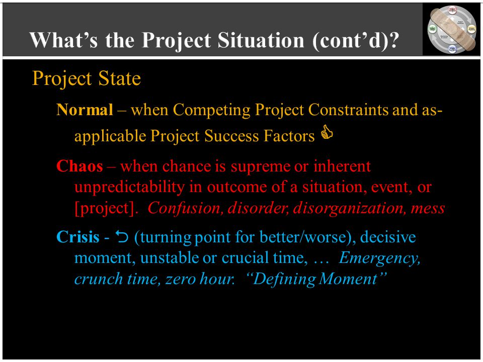 vvvvvvvvvv vvvvvvvvvv vvvvvvvvvv vvvvvvvvvv v Project State Normal – when Competing Project Constraints and as- applicable Project Success Factors  C