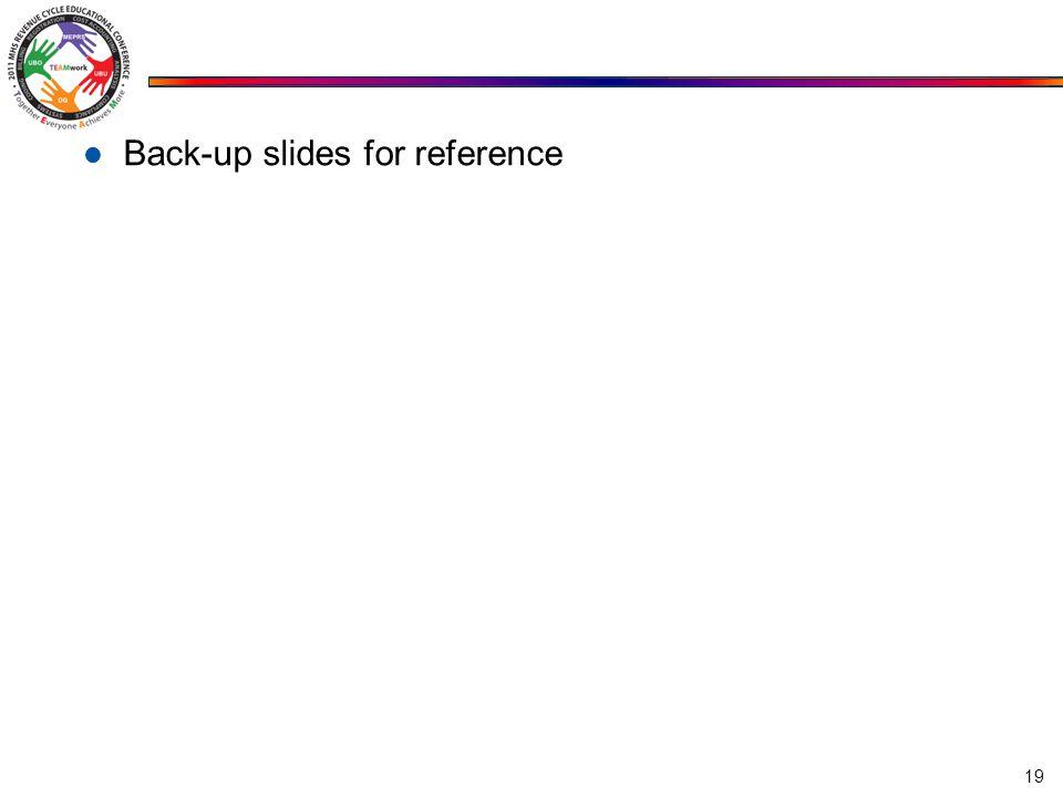 Back-up slides for reference 19