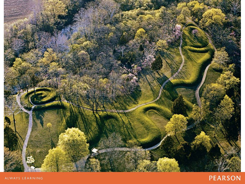 The Great Serpent Mound in southern Ohio