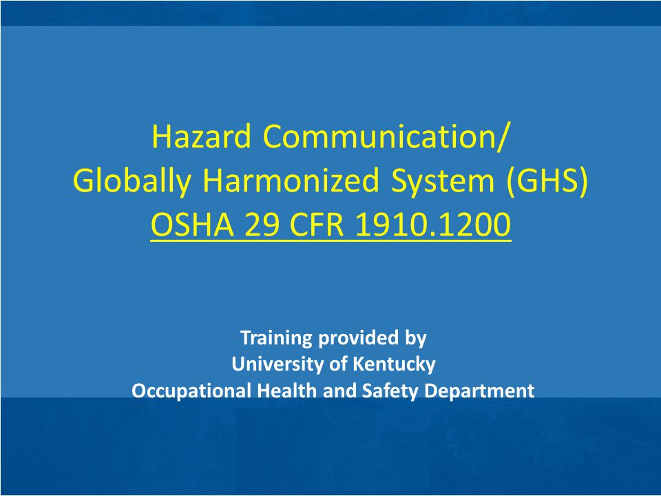 HMIS Labeling The HMIS labeling system operates on the same principle as the NFPA diamond.