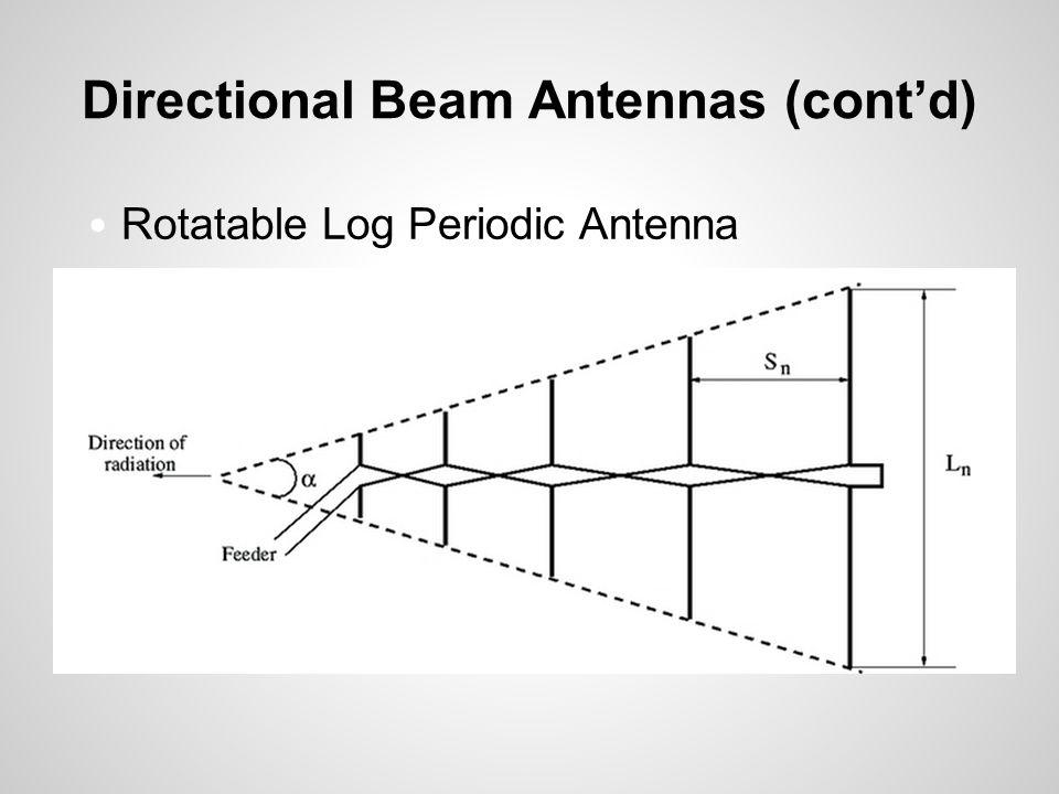 Directional Beam Antennas (cont'd) Rotatable Log Periodic Antenna