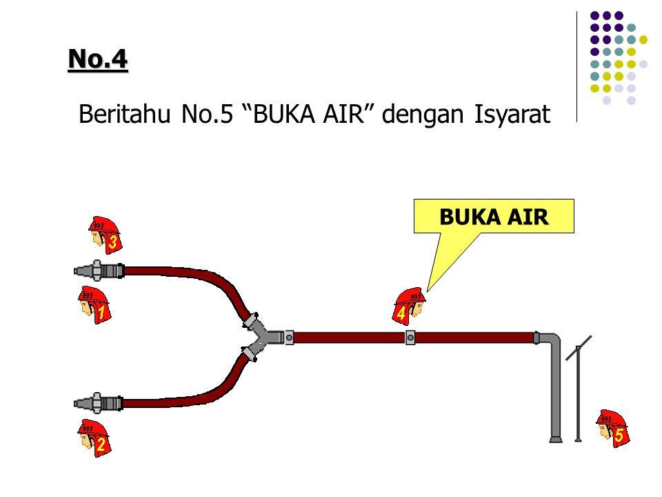 No.4 Beritahu No.5 BUKA AIR dengan Isyarat BUKA AIR