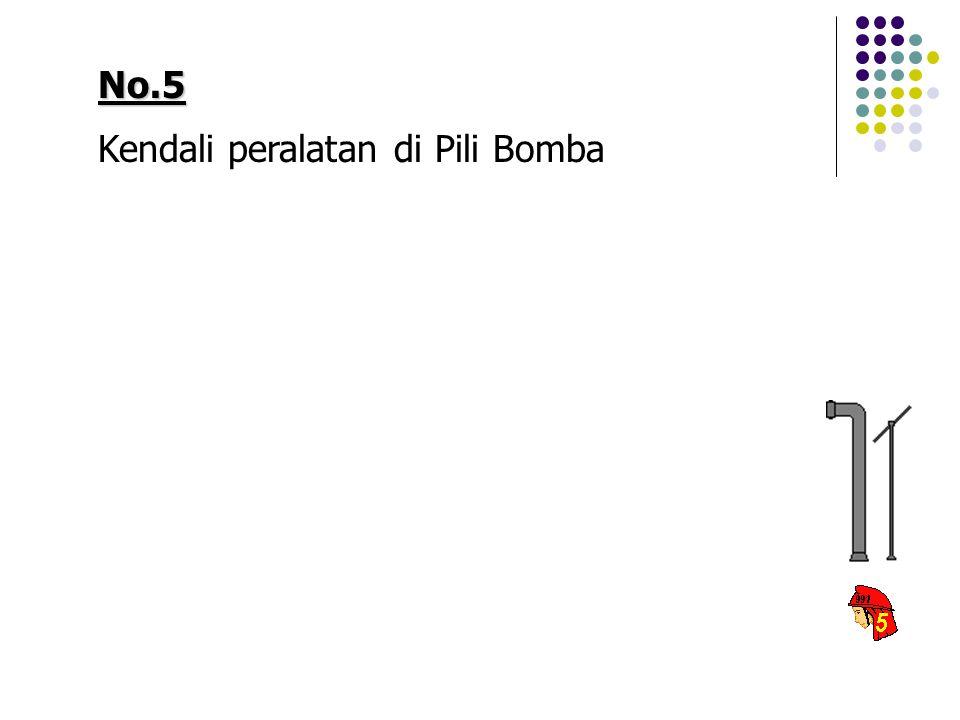 No.5 Kendali peralatan di Pili Bomba