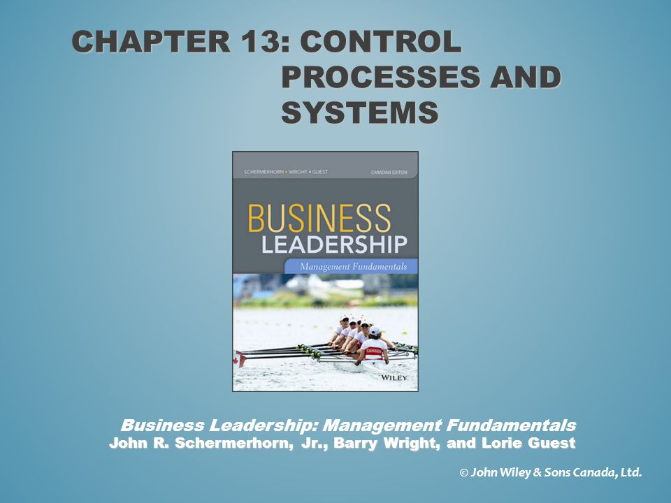 o Explain why and how managers control o Describe the steps in the control process o Explain the common control tools and techniques PLANNING AHEAD — CHAPTER 13 LEARNING GOALS