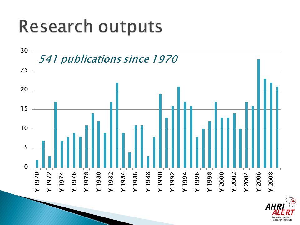 541 publications since 1970