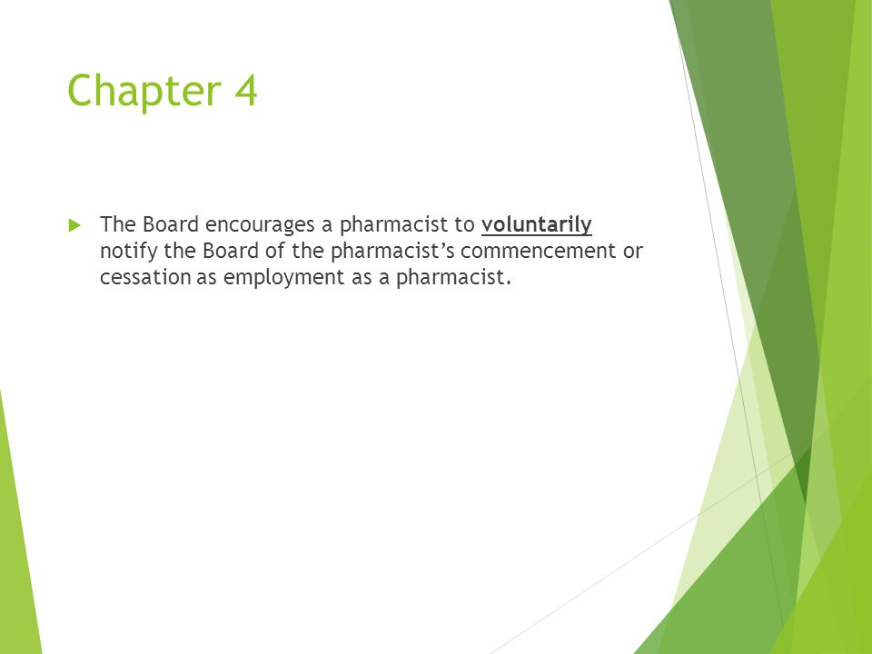 Chapter 13  Operation of retail pharmacies.