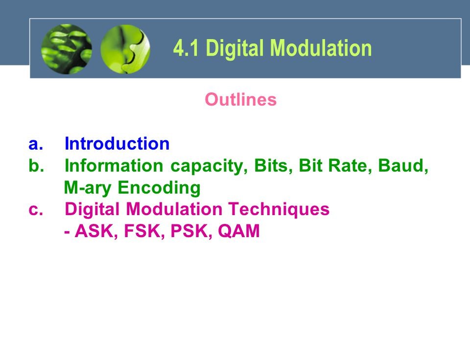Bandwidth Efficiency –Used to compare the performance of one digital modulation technique to another.