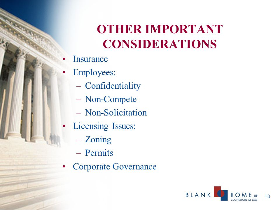 11 LEGAL PITFALLS Bad Advice Unprotected IP Sloppy Records Wrong Structure Personal Liability Oral Agreements Employment Issues