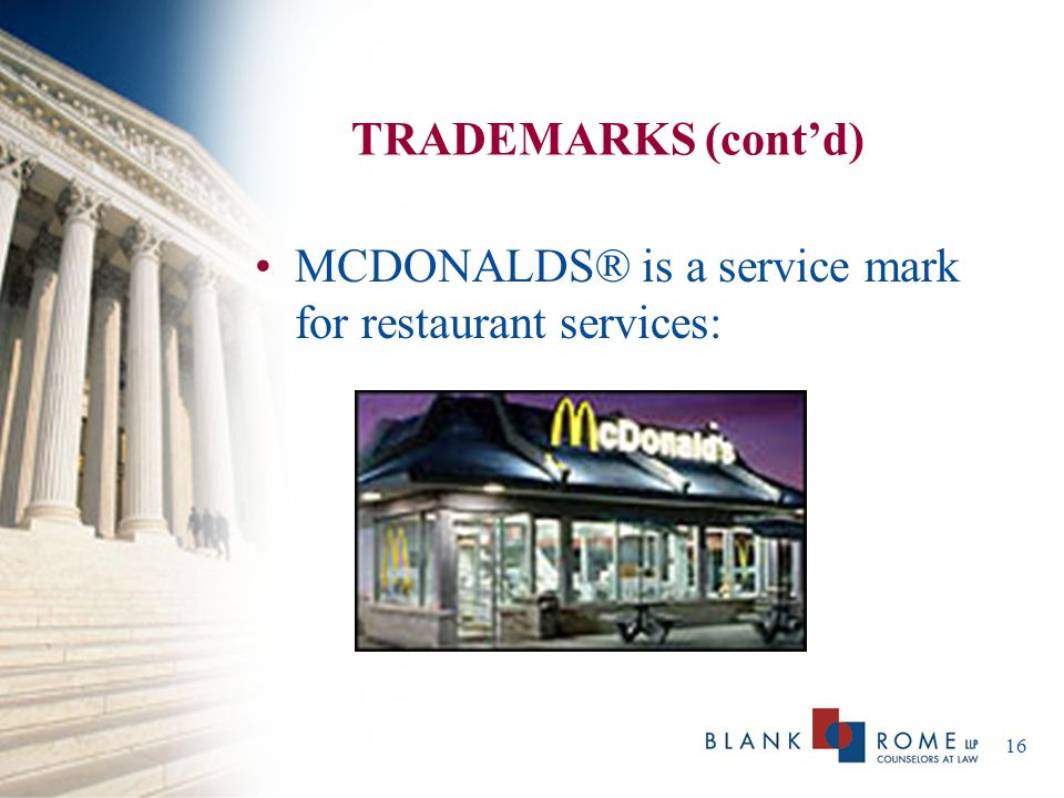 17 THE APPLICATION PROCESS A federal registration is obtained by filing an application with the U.S.