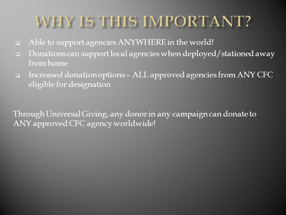  Able to support agencies ANYWHERE in the world.