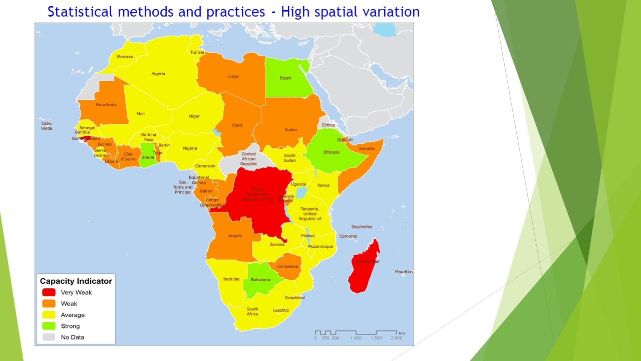 Statistical methods and practices - High spatial variation