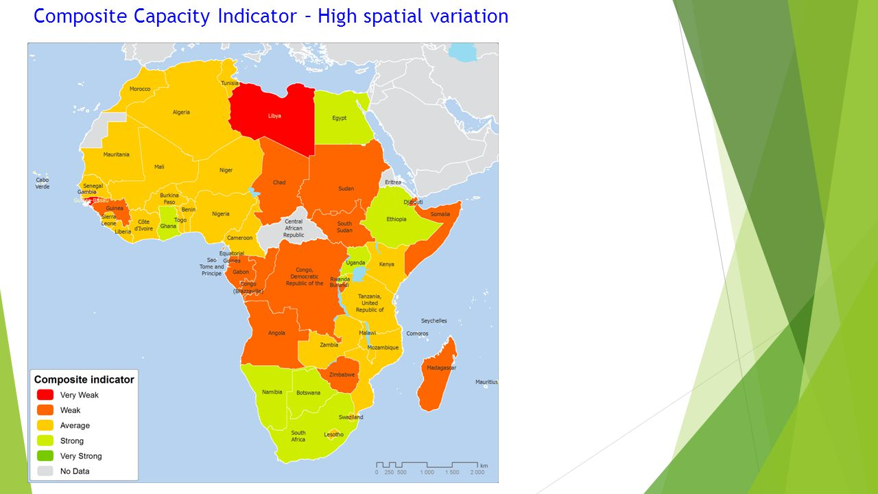 Composite Capacity Indicator – High spatial variation