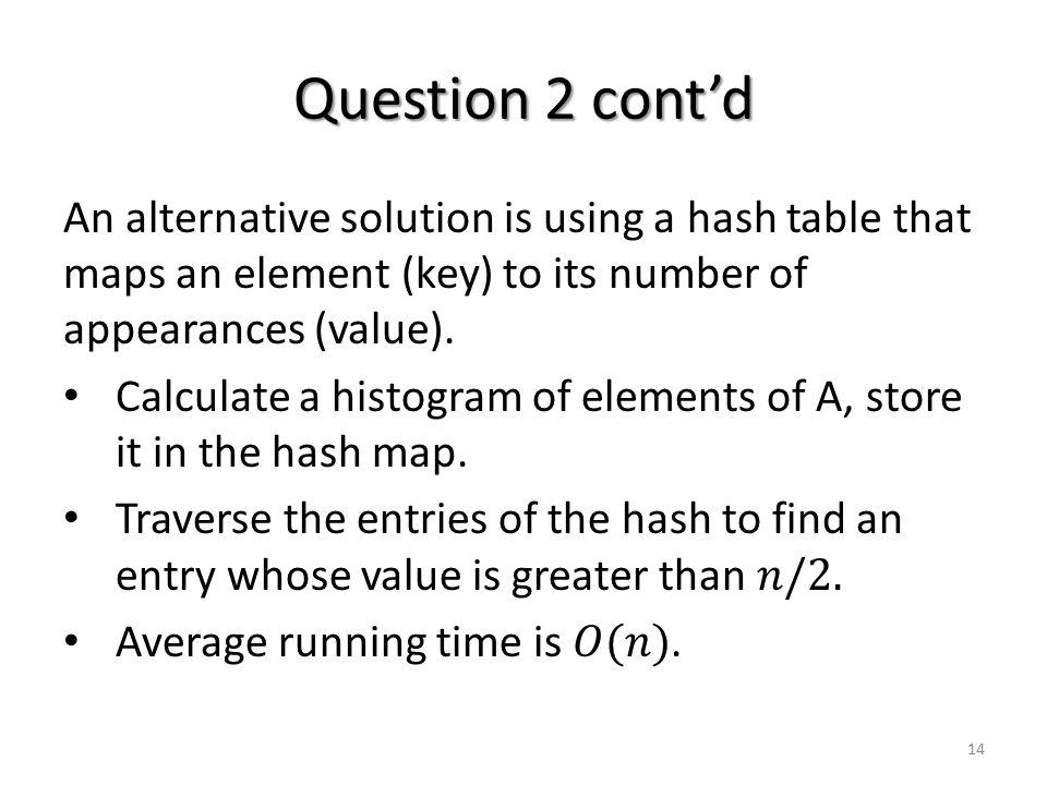 Question 2 cont'd 14