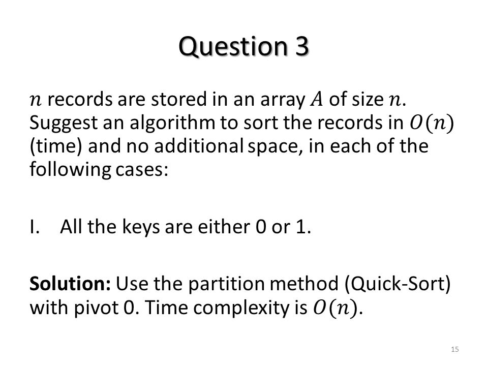 Question 3 15