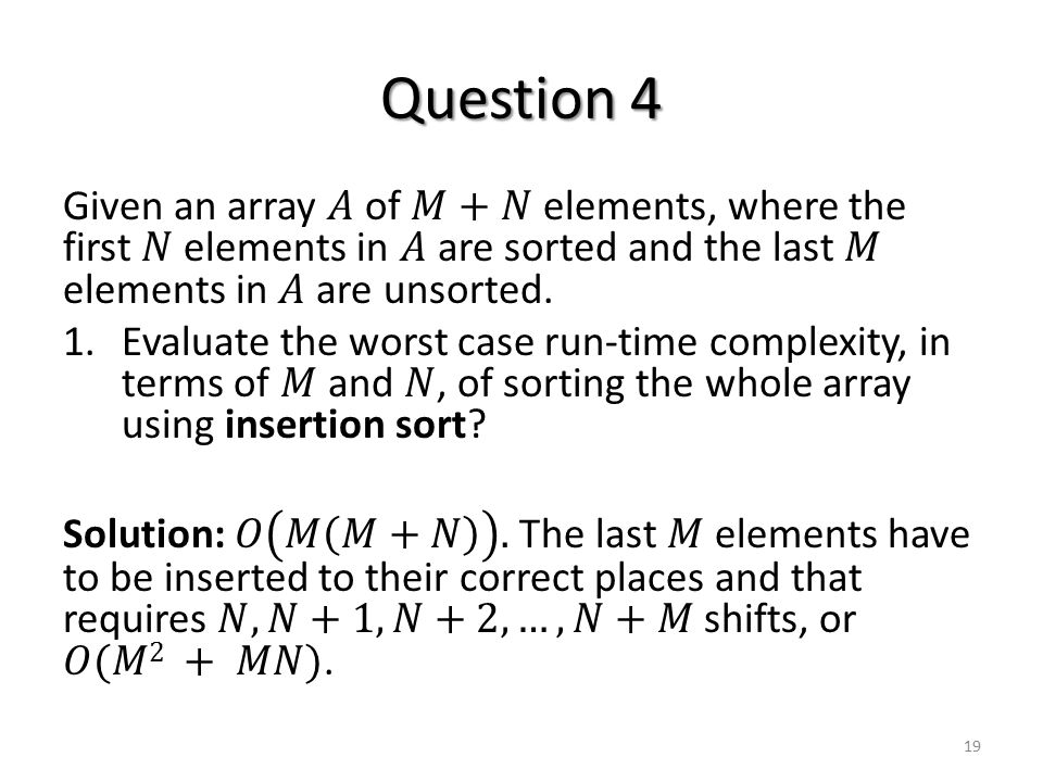 Question 4 19
