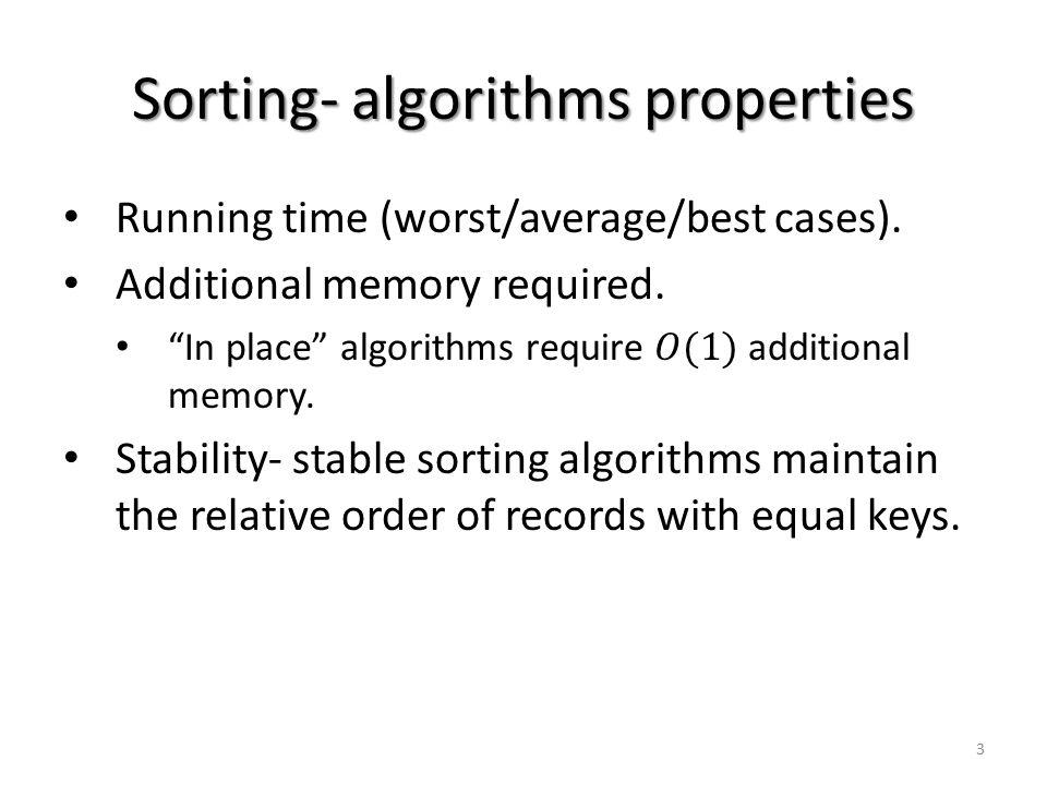 Sorting- algorithms properties 3