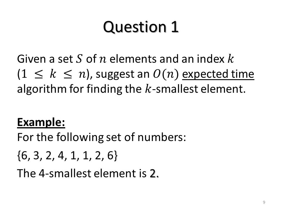 Question 1 9