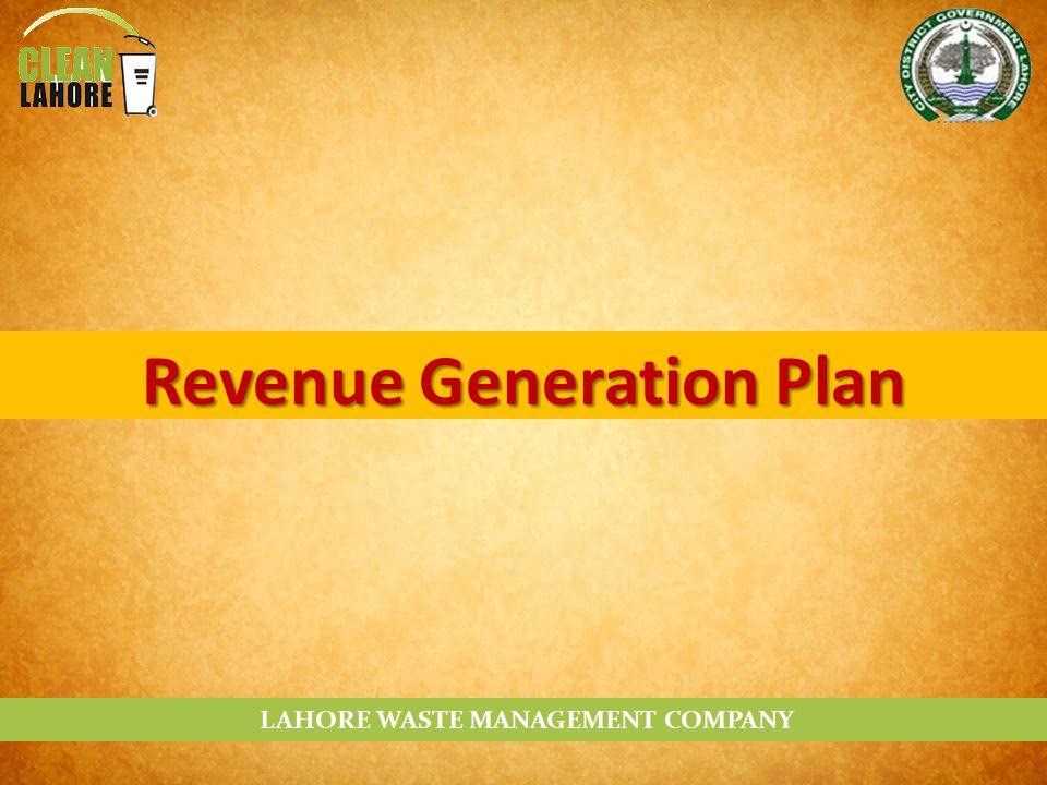 LAHORE WASTE MANAGEMENT COMPANY Revenue Generation Plan