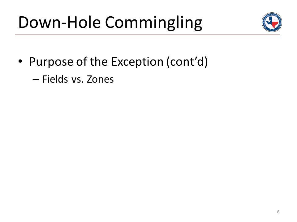 Down-Hole Commingling 7 Field 1 Field 2 Field 3 Field 1 Field 2