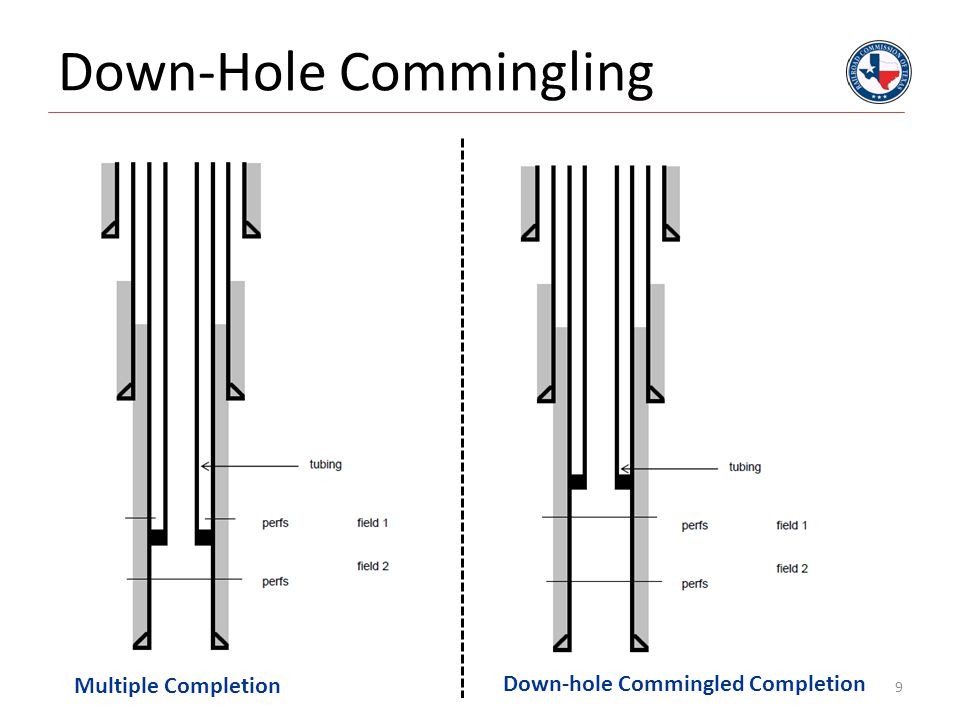 Down-Hole Commingling 9 Multiple Completion Down-hole Commingled Completion