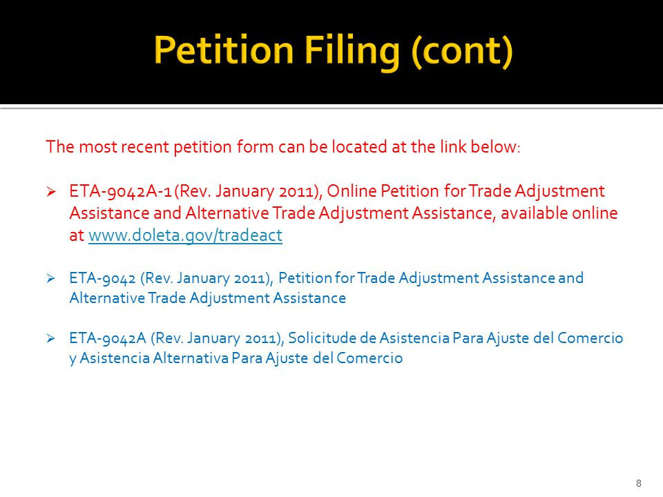 The most recent petition form can be located at the link below:  ETA-9042A-1 (Rev.