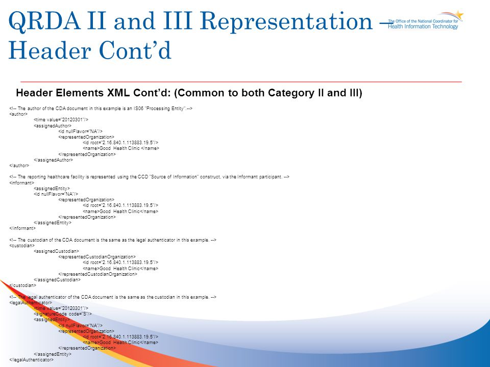 QRDA II and III Representation – Reporting Parameters List of Stratifiers from HQMF Query represented as Observations (Ids can be used to link them across QRDA / HQMF if required), Should they be ACT's .