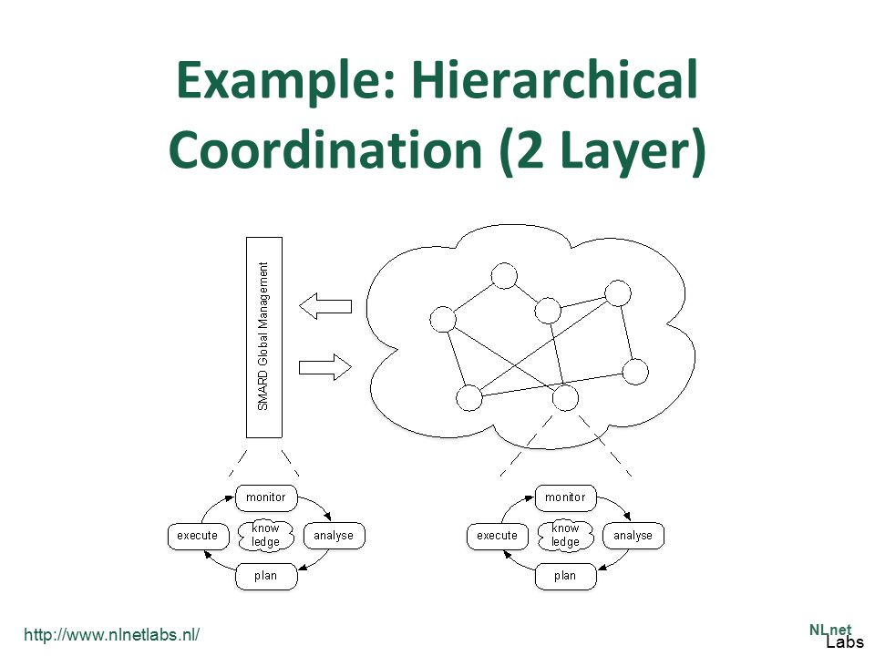 http://www.nlnetlabs.nl/ NLnet Labs Example: Hierarchical Coordination (2 Layer)