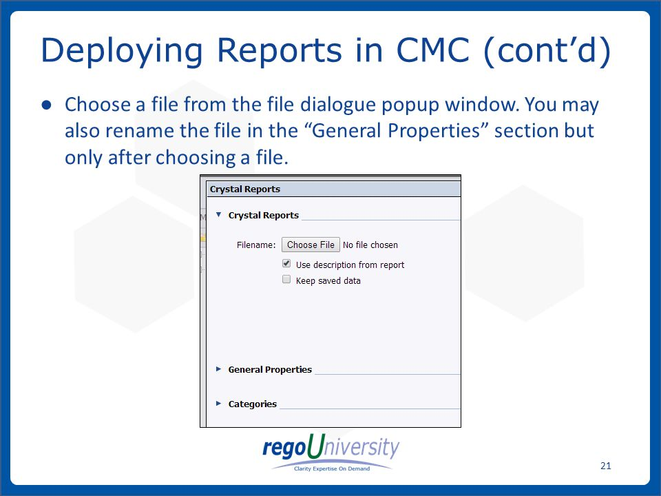 www.regoconsulting.comPhone: 1-888-813-0444 21 ● Choose a file from the file dialogue popup window.