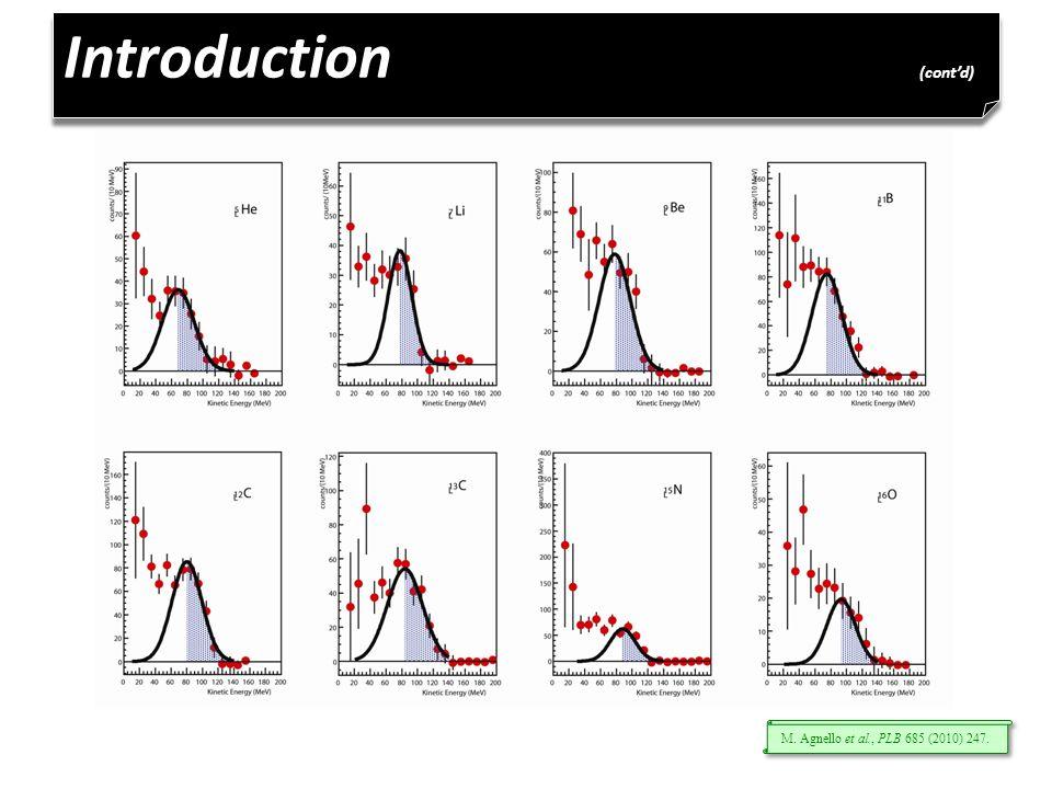Introduction (cont'd) M. Agnello et al., PLB 685 (2010) 247.