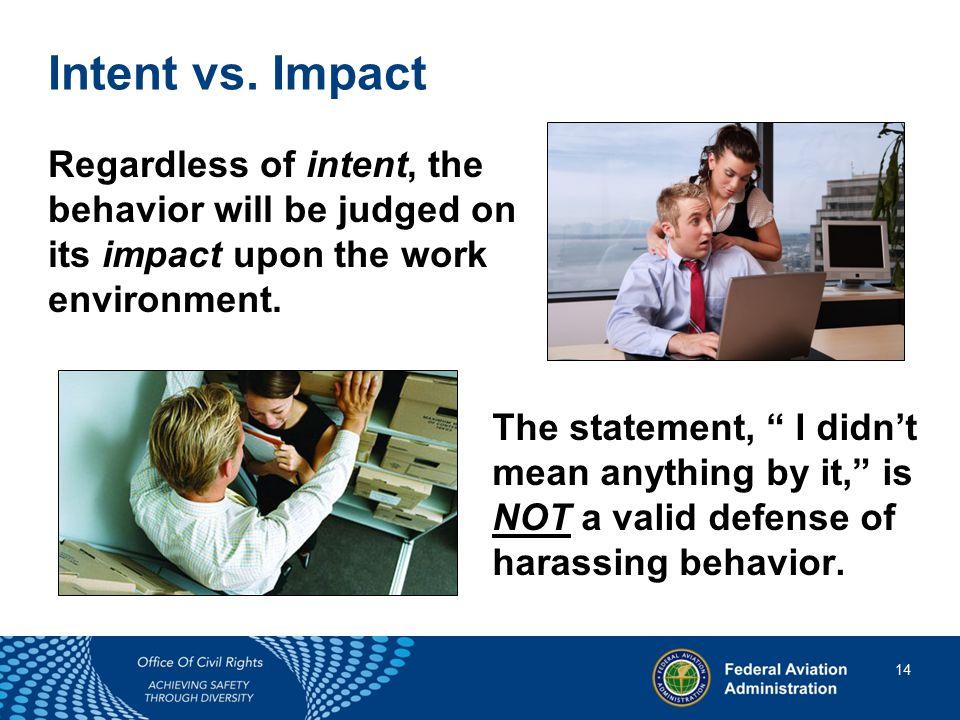 14 14 Intent vs.