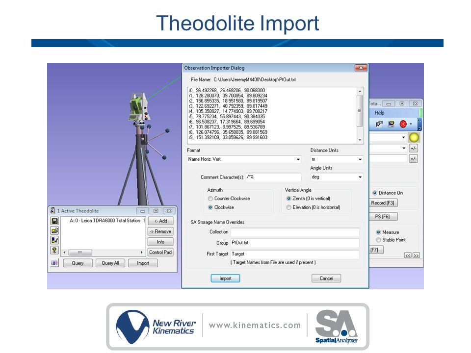 Theodolite Import