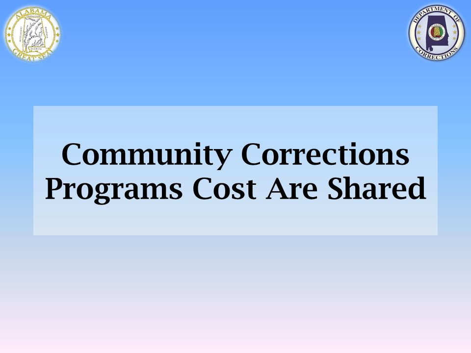 Community Corrections Programs Cost Are Shared