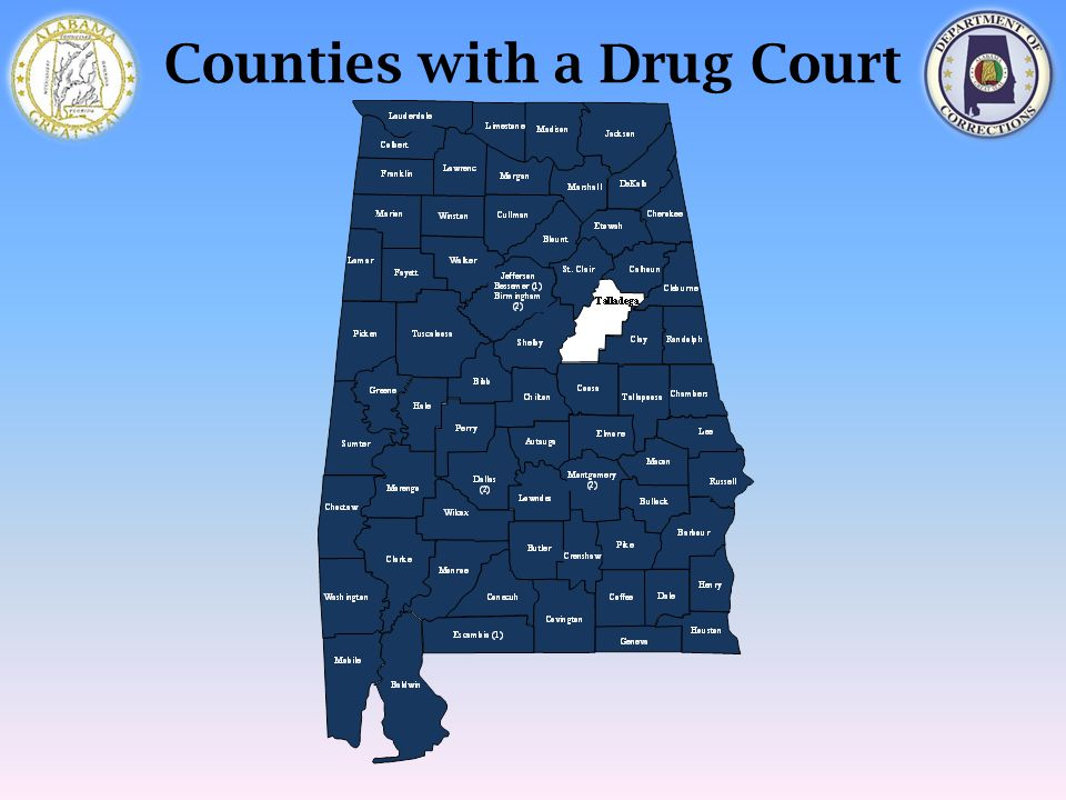 Counties with a Drug Court
